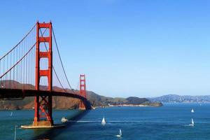 gyllene gate bridge i san francisco foto