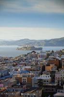 Alcatraz Island och North Beach, San Francisco foto