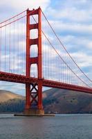 gyllene gate bridge i san francisco, california foto