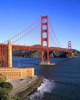fortpunkt och gyllene gate bridge foto