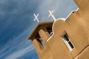 san francisco de asis missionskyrka i nya mexico foto