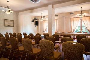 utrymme för affärskonferenser foto