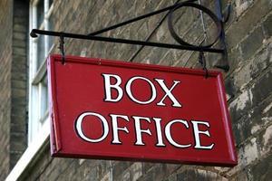 meddelande, box office foto
