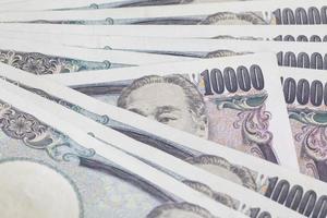 japansk yen sedel för närbild för finans koncept