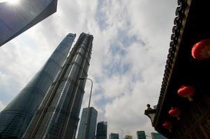 shanghai lujiazui finans- och handelszon i den moderna staden foto