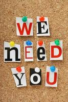 vi behöver dig foto
