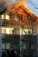 brandkatastrof foto
