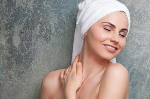 hudvård och spa-behandling foto