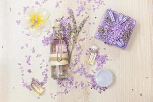 spa-koncept med lavendel foto