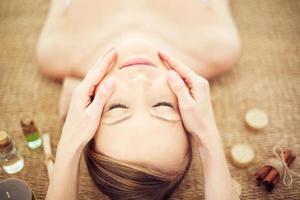 avkopplande under massage foto