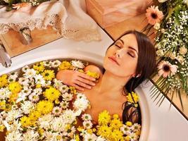kvinna på lyxiga spa
