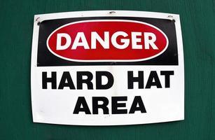 hård hatt område. foto