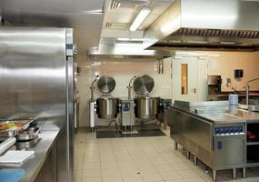 tomt typiskt restaurangkök foto