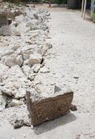 brisblock på konstruktionsplatsen