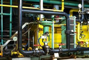 utrustning inuti industriella kraftverk foto