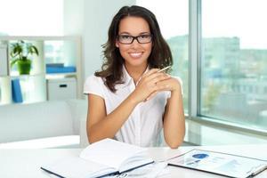 affärskvinna i office
