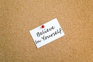 tro på dig själv koncept