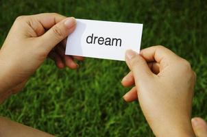 etikett dröm foto