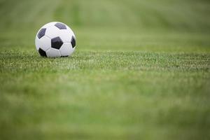 fotboll på fältet foto