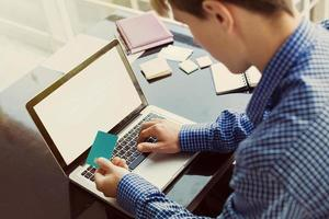 shopping och betalning online foto