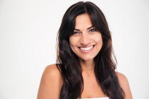 skönhet porträtt av en leende kvinna foto