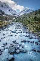 mountain river, mount cook foto