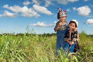 barn av Asien foto