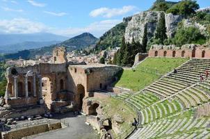 grekisk teater återställd foto