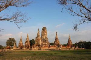 ayutthaya historiska park, Thailand foto