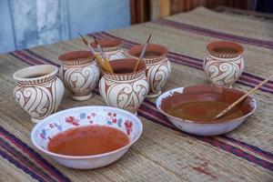 målade lerkrukan
