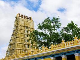 templet för gudinnan Chamundi foto