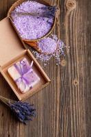 lavendel handgjord tvål foto