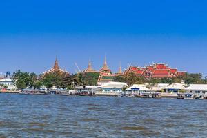 kungliga palatset och wat phra kaew i bangkok, Thailand foto