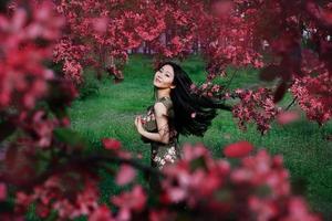 porträtt av en asiatisk flicka foto