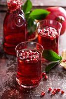 granatäppeldrink med mousserande vatten foto