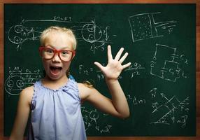 smart skolflicka foto