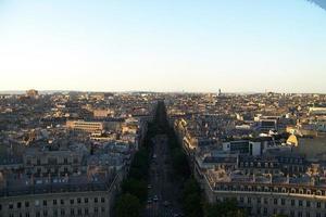 toppen av paris foto