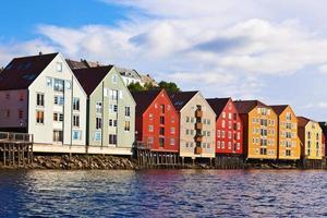 stadsbild av Trondheim, norway foto