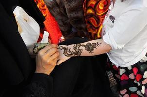 arabisk henna målning foto