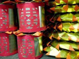 papper som används för förfäder dyrkan i kinesisk kultur foto