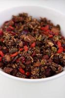 nötter och frön granola foto