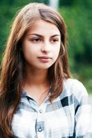 vacker tonårsflicka