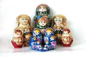 familj av ryska kapslade dockor