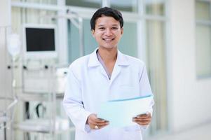 asiatisk läkare porträtt foto