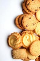 cookie på vit bakgrund foto
