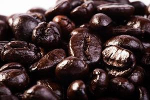 rostade kaffebönor foto