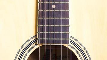 närbild sträng av gitarr foto