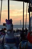 cavalo de carrocel foto