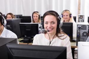framgångsrikt callcenter foto
