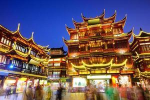 Yuyuan-distriktet i Shanghai Kina foto